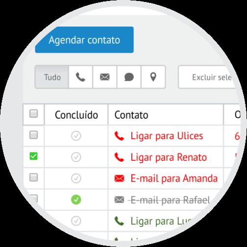 CRM Rubeus - Agendamento de contato