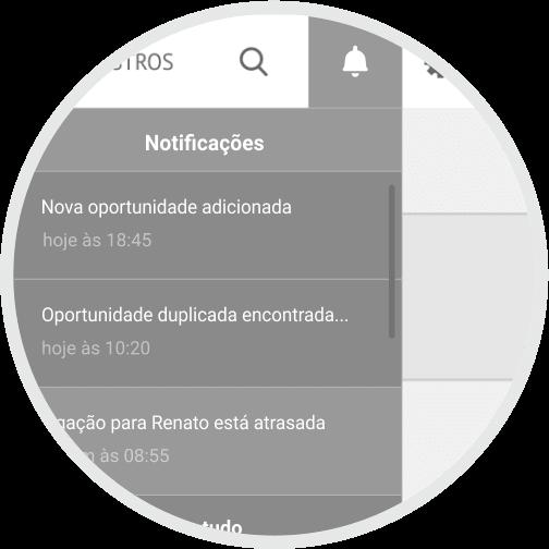 CRM Rubeus - notificações em tempo real