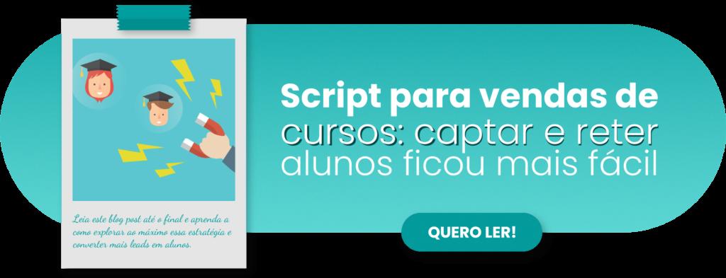 Script para venda de cursos - Rubeus