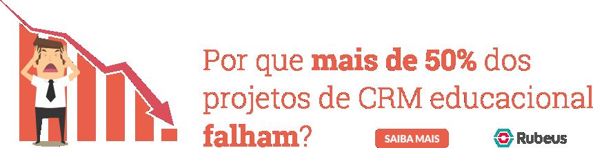 Por que mais de 50% dos projetos de CRM educacional falham? - Rubeus
