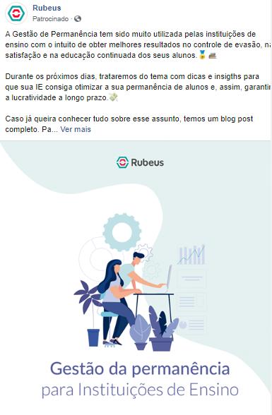 Exemplo de utilização do Facebook Ads - Rubeus
