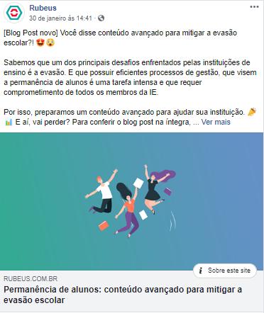 Exemplo de utilização do Facebook - Rubeus