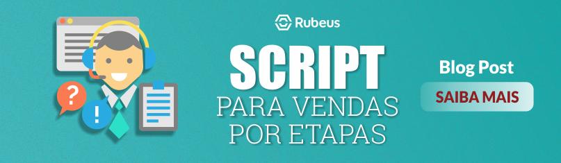 CTA para blog post script para vendas por etapas - Rubeus