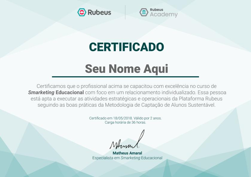 [Modelo] Certificação Rubeus Academy